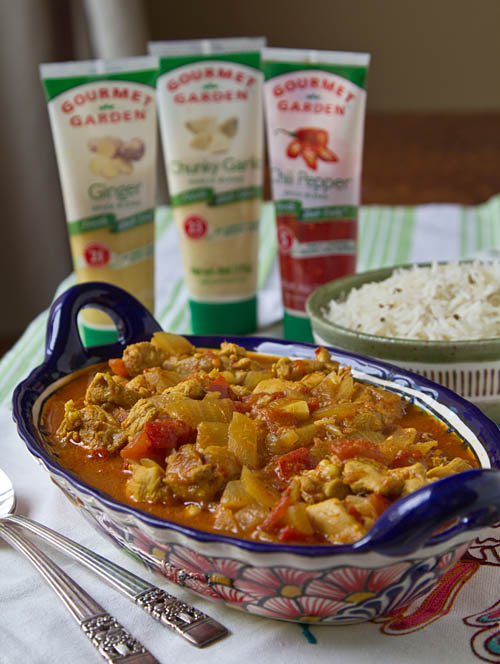 Cancun Chicken Curry made with Gourmet Garden herbs