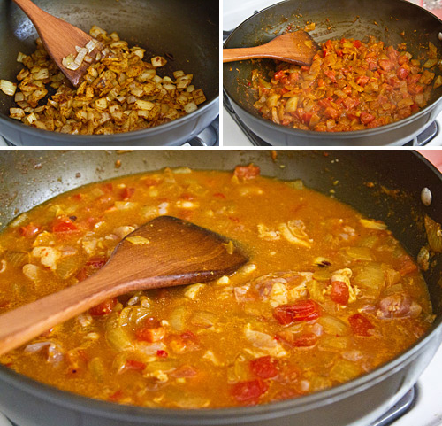 Making Cancun Chicken Curry