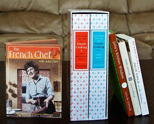 Julia Child books and DVDs