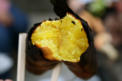 Yaki imo (roasted sweet potato)