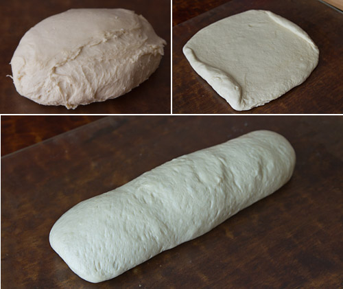 Shaping the shokupan loaf