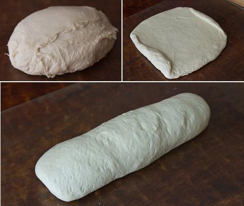 Shaping the shokupan loaf