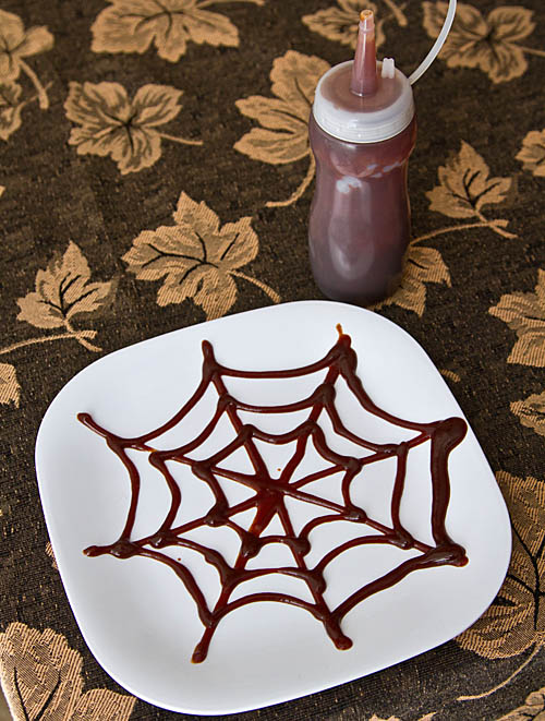 Chipotle Ketchup Spider Web