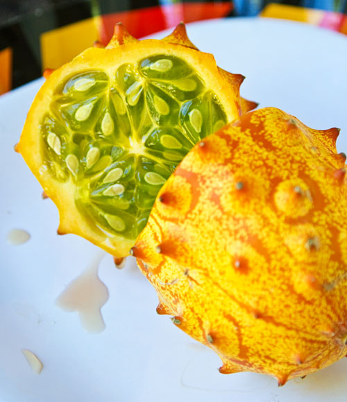 Inside of Kiwano Horned Melon