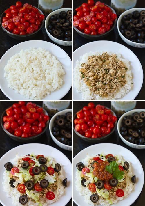 Making Vegetarian Taco Rice