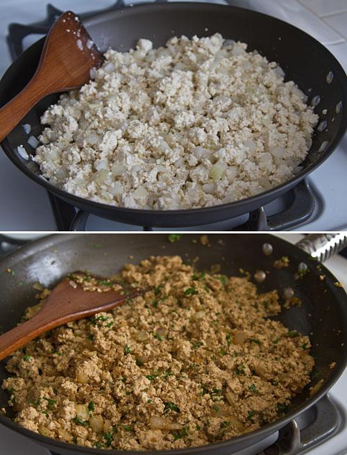 Making the seasoned tofu