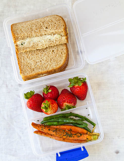 Sandwich with Fruit and Veggies Bento