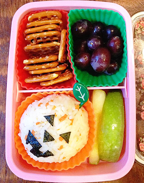 Squirrel's Halloween Bento