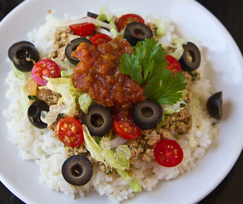 Vegetarian Taco Rice