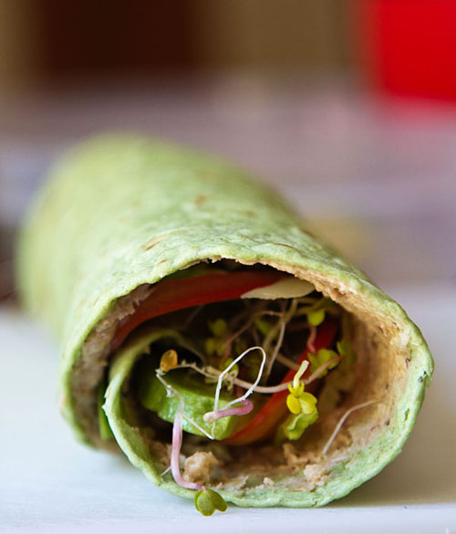 Wheat Berry Spread Sandwich Wrap