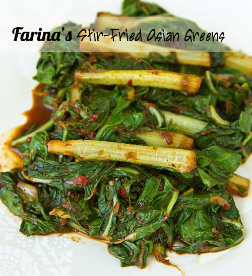 Farina Kingsley's Stir-Fried Asian Greens Recipe — La Fuji Mama