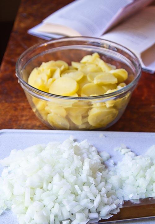 Making German Potato Salad