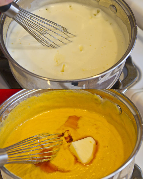 Making Pumpkin Pudding