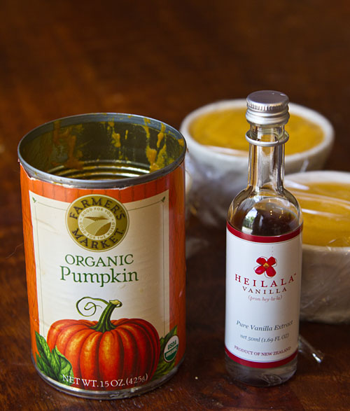 Organic Pumpkin Puree and Heilala Vanilla