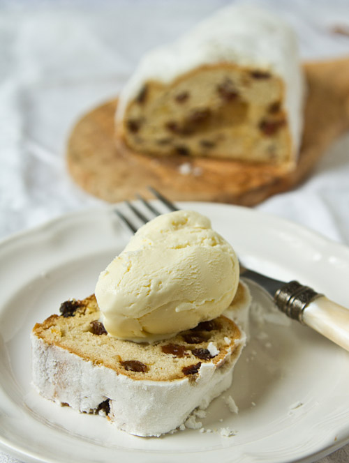 Holiday Almond Ice Cream