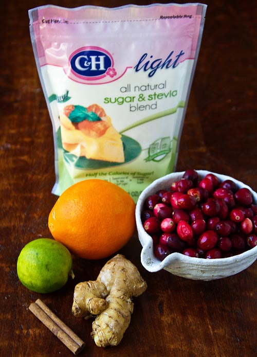 Ingredients for Fuji Light Cranberry Sauce