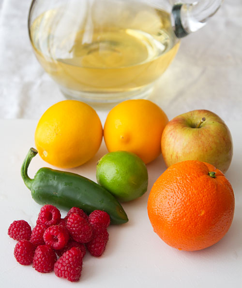 Ingredients for Virgin Spicy White Sangria