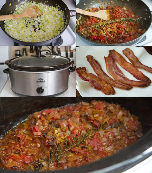 Making Tomato Bacon Chutney