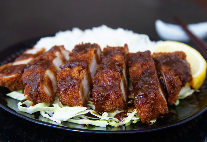 Miso Katsu served with Steamed Rice