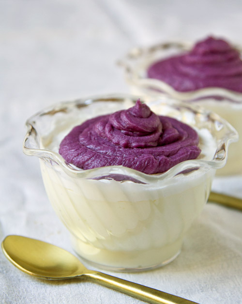 Purple Sweet Potato Mont Blanc Puddings