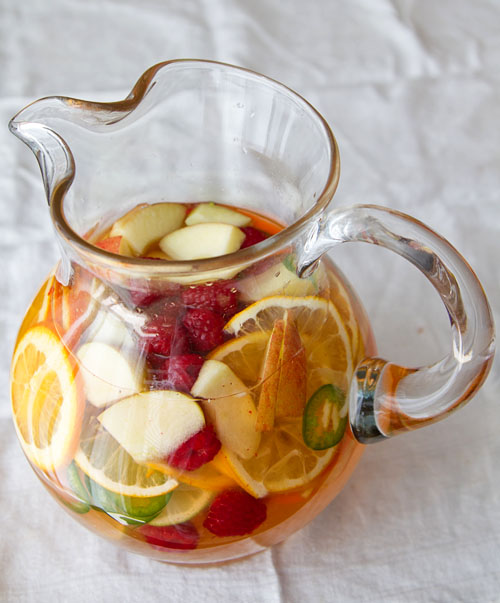 Pitcher of Virgin Spicy White Sangria