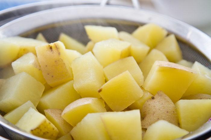 Steaming hot Klondike Goldust potatoes