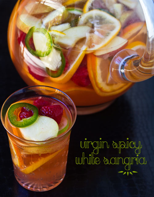 Virgin Spicy White Sangria for Fuji Happy Hour