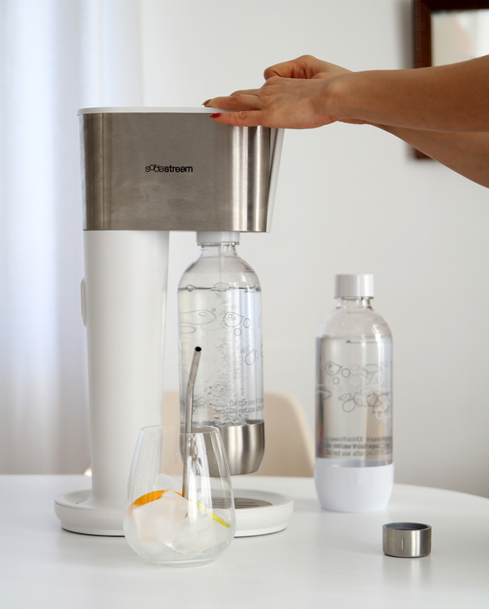 Carbonating water with a SodaStream