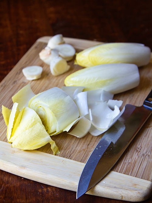 Cutting California Endive