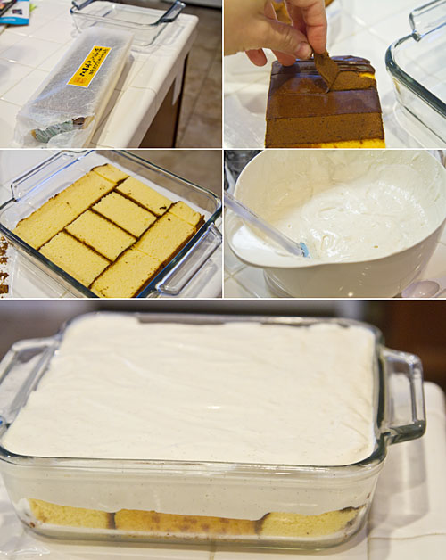 Assembling the tofu cheesecake