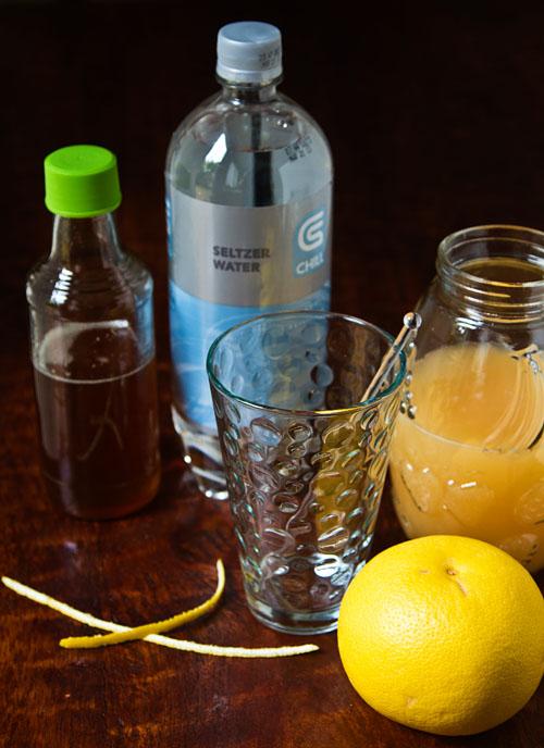 Ingredients for Grapefruit Juniper Berry Fizz