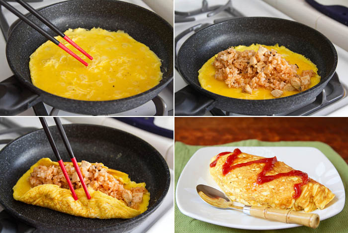 Making omurice