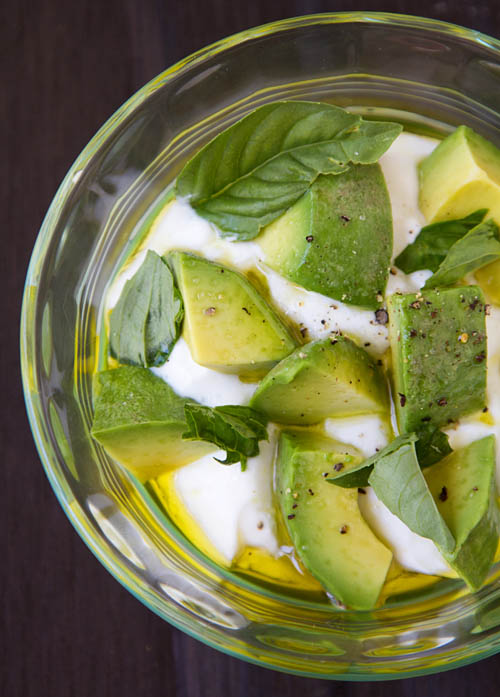 Avocado Basil Greek Yogurt Breakfast Parfait