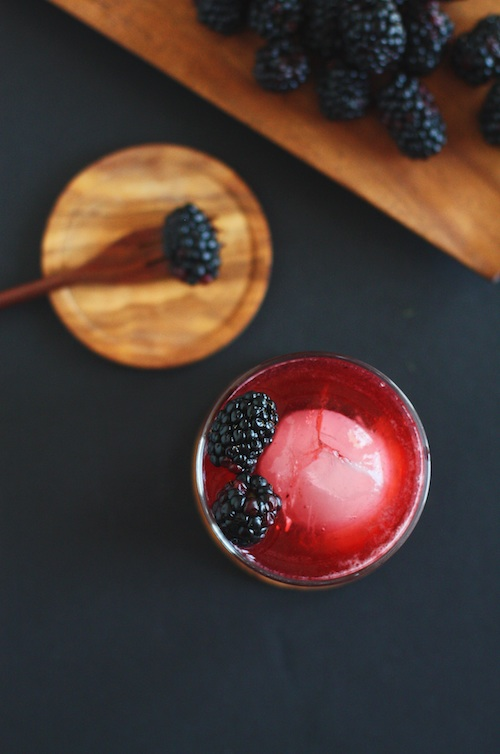 Blackberry Vanilla Cocktail