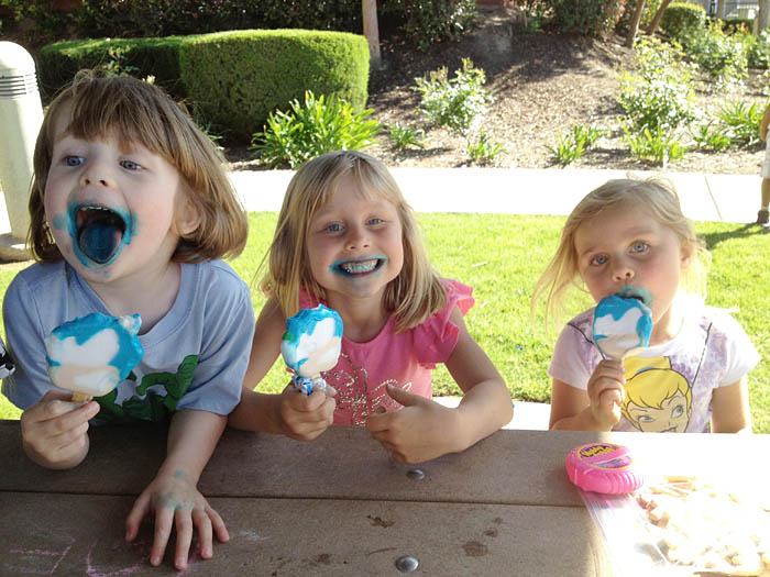 Blue Popsicles at the Park