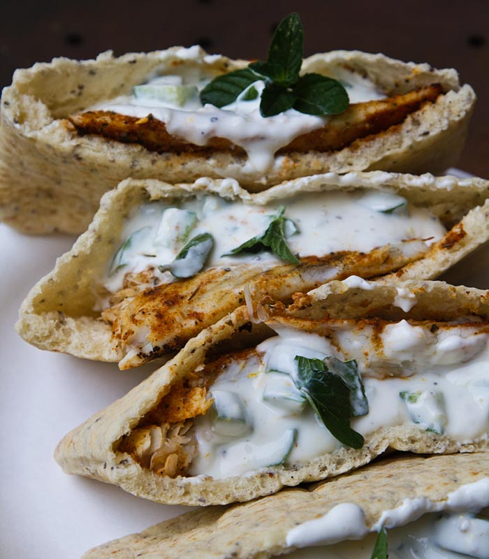 Grilled Barramundi Pita Sandwiches