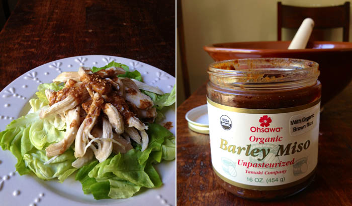 Nancy Hachisu's Chicken Salad and Ohsawa Organic Barley Miso