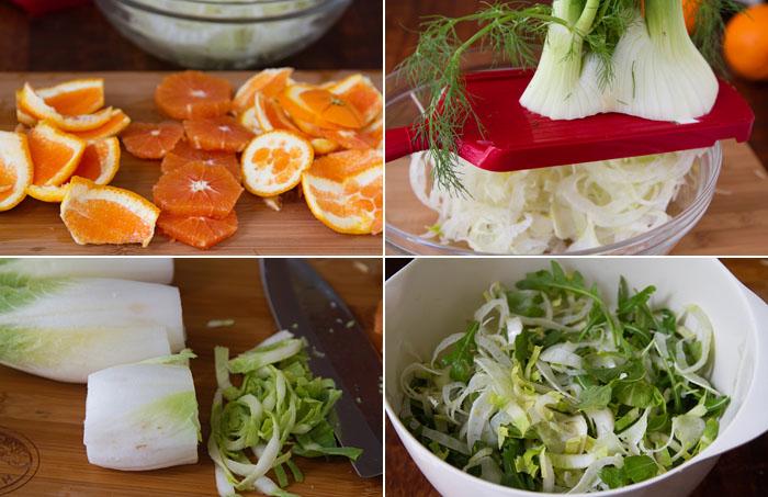 Prep the salad ingredients