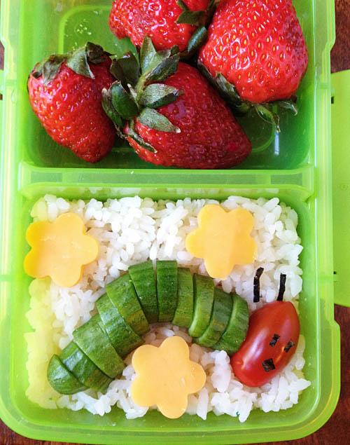 The Very Hungry Caterpillar Bento