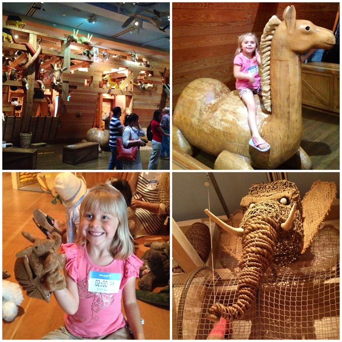 At the Skirball Center's Noah's Ark exhibit