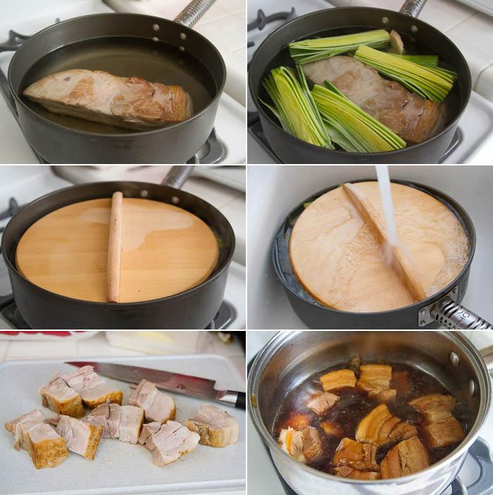 Japanese Braised Pork Belly (Buta no Kakuni) - La Fuji Mama