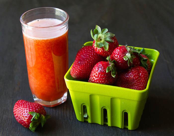 Fresh Strawberry Basil Meyer Lemonade