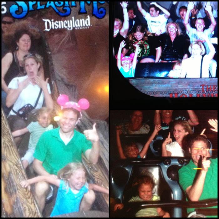 Fuji family at Disneyland