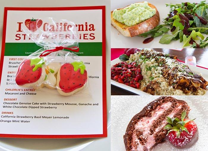 I Heart California Strawberries dinner