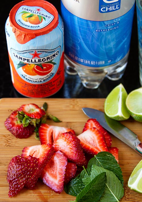 Ingredients for Strawberry Crush Mocktail