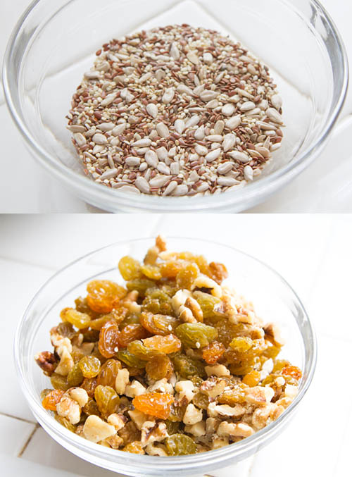 Seeds, Golden Raisins, and Walnuts