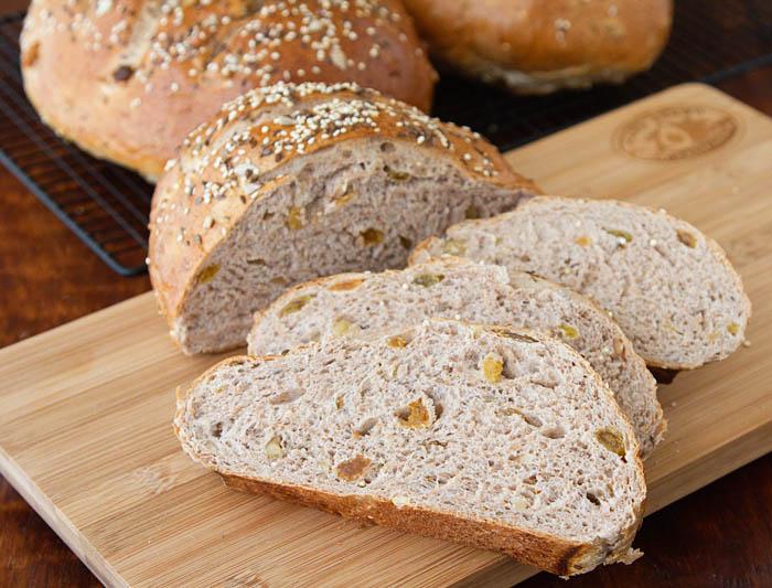 Sliced Fruit, Nut & Seed Bread