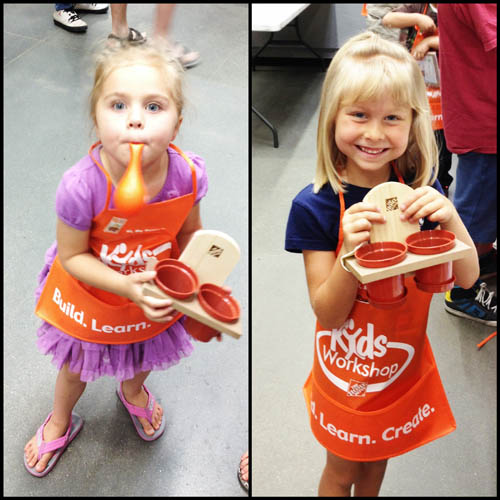 The Fujilings at Home Depot's monthly Kid's Workshop