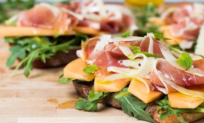 Serrano Ham Melon Sandwich
