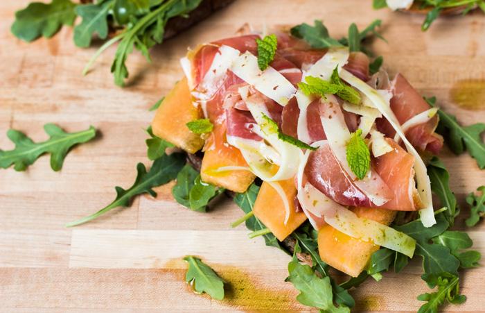 Serrano Ham Melon Sandwich 3